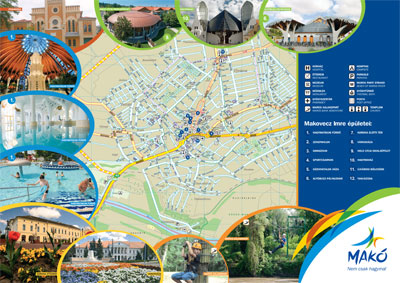 Makó városának térképe